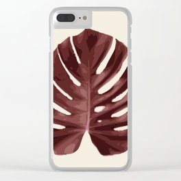 Monstera, Ancora #1 Clear iPhone Case