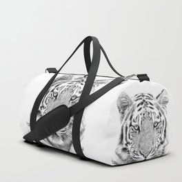 Black and white tiger Duffle Bag