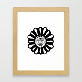 THIRD EYE FLOWER Framed Art Print