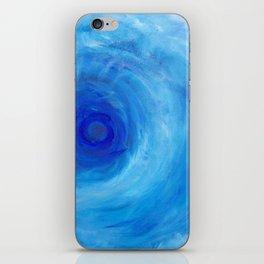 Blue Vortex iPhone Skin
