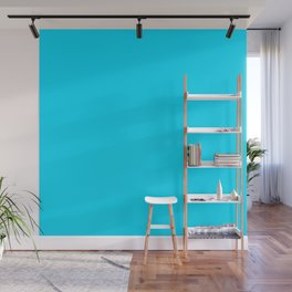 Neon Blue Wall Mural