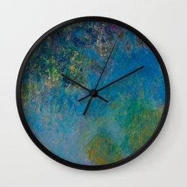 Claude Monet Wisteria Wall Clock