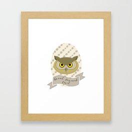 Señora Owl Framed Art Print