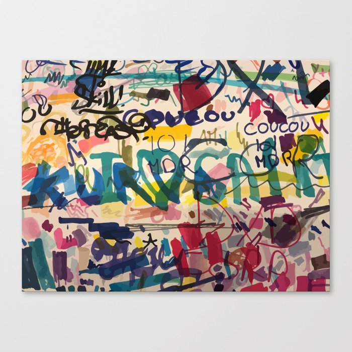 Urban Graffiti Paper Street Art Leinwanddruck