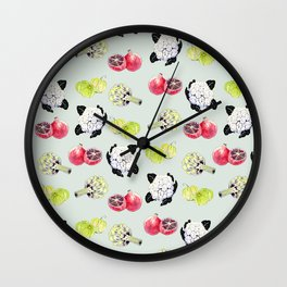 fruits and vegetables Wall Clock