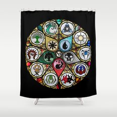 Magic the Gathering - Stained Glass Shower Curtain
