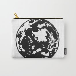 Full Moon black and white lino print Carry-All Pouch