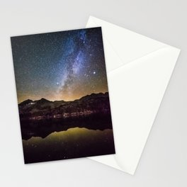 Galaxy Behind the Mountain Stationery Cards