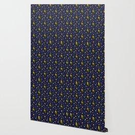 Catching Fireflies Pattern Wallpaper