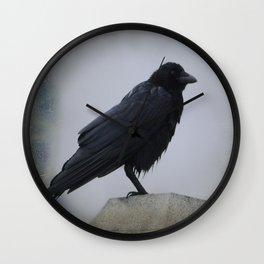 Wet Crow Wall Clock