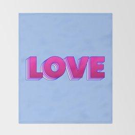LOVE is a magic word Throw Blanket