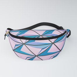 Blue Purple Geometric Triangle Pattern Fanny Pack