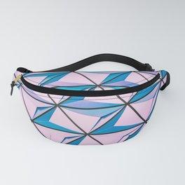 Blue Purple Geometric Triangle Pattern Fanny Pack
