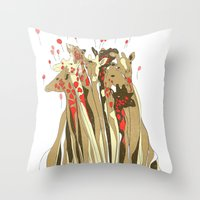 tangled Throw Pillows featuring Tangled by Julia Kisselmann