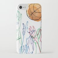 basketball iPhone & iPod Cases featuring Basketball by alrightmike