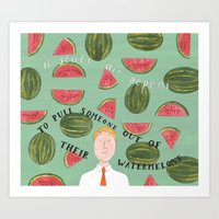 Out of the Watermelons Art Print
