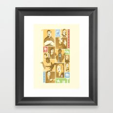 Parks & Rec Framed Art Print