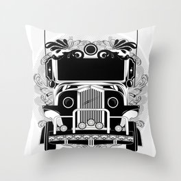 jeep ni erap Throw Pillow