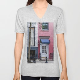 Old Greenwich Village apartment Unisex V-Neck
