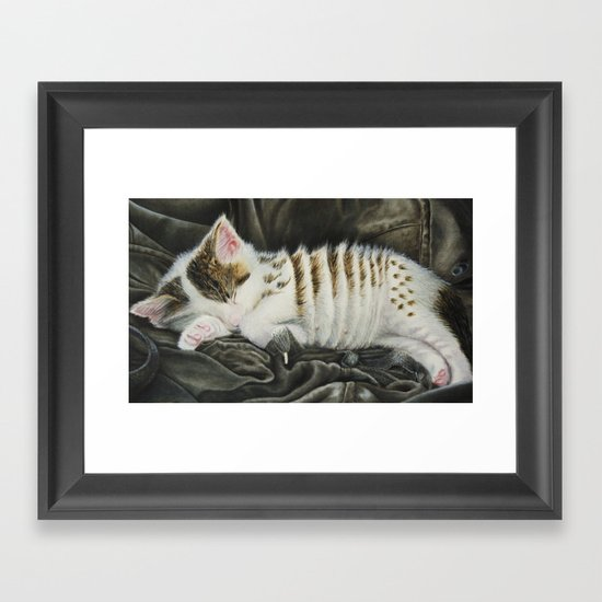 Sleeping Accordion Framed Art Print