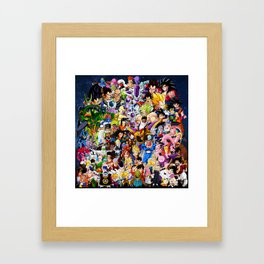 Dragon ball characters Framed Art Print