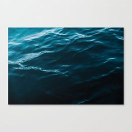 Minimalist blue water surface texture - oceanscape Canvas Print