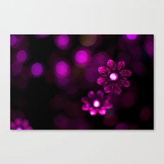 Electric Flowers (Purple) Canvas Print