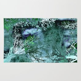 Monkey Life in the Green Bush of Ghosts Rug