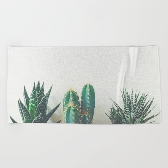 Cactus & Succulents II Beach Towel