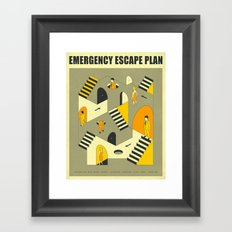 EMERGENCY ESCAPE PLAN 3 Framed Art Print