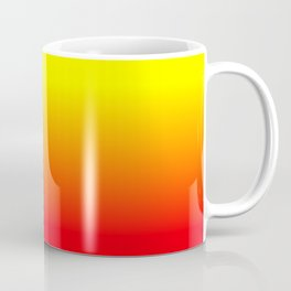 Neon Red and Neon Yellow Ombré  Shade Color Fade Coffee Mug