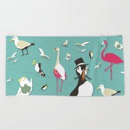 Party Birds - Pattern Beach Towel