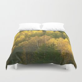 Forest In Sunset Tones Duvet Cover