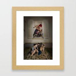 Un Chat dans la Fête Foraine (XIII) // A Cat in the Carnival (XIII) Framed Art Print