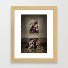 Un Chat dans la Fête Foraine (XIII) // A Cat in the Carnival (XIII) Framed Art Print