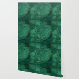 Hunter Green Marble Wallpaper