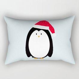 Christmas Penguin Rectangular Pillow