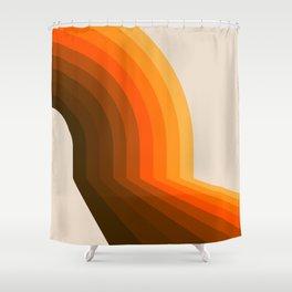 Golden Halfbow Shower Curtain