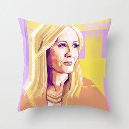 JK Rowling Throw Pillow