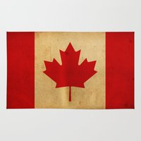canada Area & Throw Rugs featuring Canada by NicoWriter