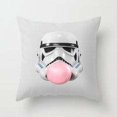 Stormtrooper Bubble Gum Throw Pillow