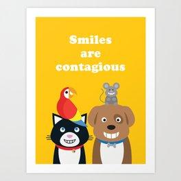 Smiles are Contagious Art Print