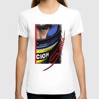 senna T-shirts featuring Senna Helmet Portrait by Borja Sanz Design