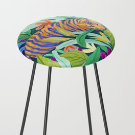 Colorful Jungle Counter Stool