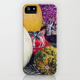 Assorted Pumpkins and Gourds for Autumn iPhone Case