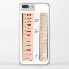 Stephen King - Neutrals Clear iPhone Case