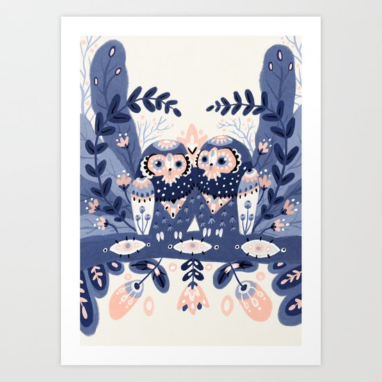 Owl Only Have Eyes For You Art Print