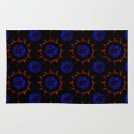 Mystery Plasma Glass Mandala Pattern Rug