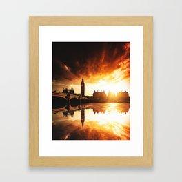 london reflections Framed Art Print