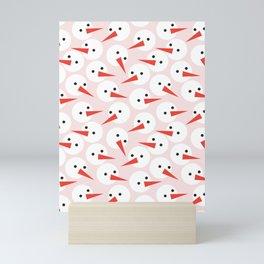 Snowman pattern Mini Art Print